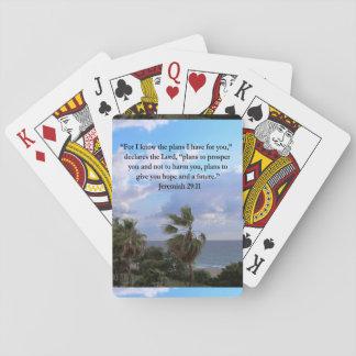 JEREMIAH 29:11 INSPIRATIONAL VERSE POKER CARDS