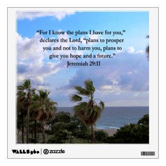JEREMIAH 29:11 INSPIRATIONAL VERSE WALL SKIN
