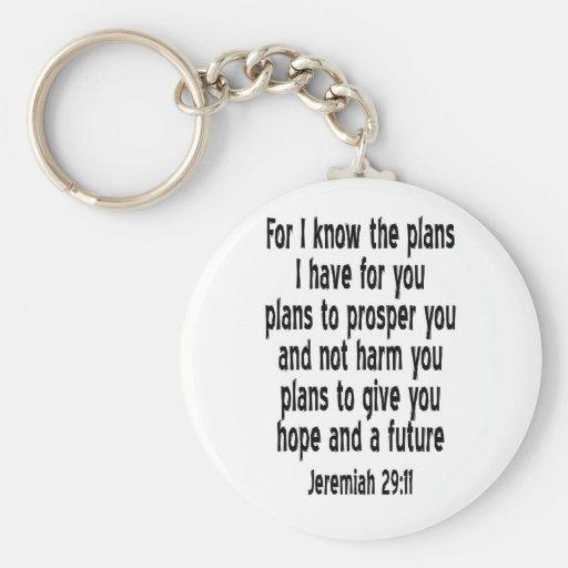 Jeremiah 29:11 key chain