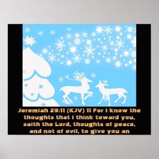 Jeremiah 29:11 King James Version KJV Trust love Poster