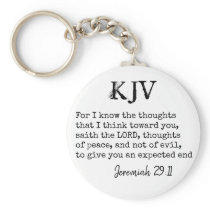 Jeremiah 29:11 KJV Bible Quote - Can Be Customized Keychain