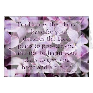 Jeremiah 29:11 Lilacs Card