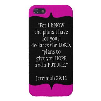 Jeremiah 29 11 negro del caso del iPhone 5 del cri iPhone 5 Cobertura