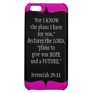 Jeremiah 29 11 negro del caso del iPhone 5 del cri
