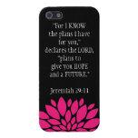 Jeremiah 29 11 negro del caso del iPhone 5 del ver iPhone 5 Protectores