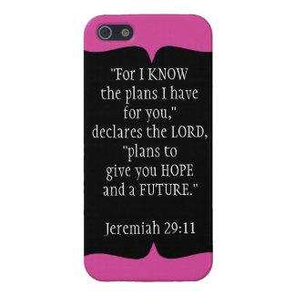 Jeremiah 29 11 negro del caso del iPhone 5 del ver iPhone 5 Carcasas