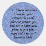 Jeremiah 29-11 pegatina redonda