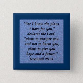 jeremiah 29-11 pinback button