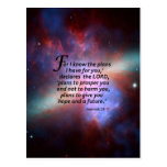 Jeremiah 29:11 post card