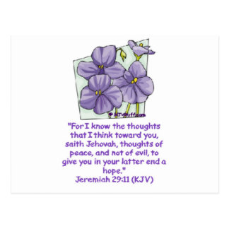 Jeremiah 29:11 postcard
