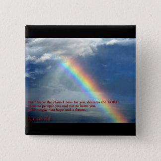 Jeremiah 29:11 Rainbow Button