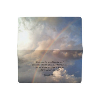 Jeremiah 29:11 Rainbow Checkbook Cover