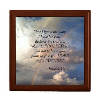 Jeremiah 29:11 Rainbow Jewelry Box