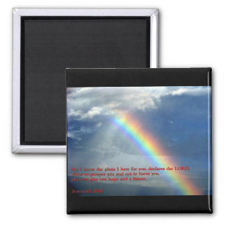 Jeremiah 29:11 Rainbow Refrigerator Magnets