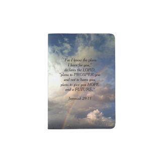 Jeremiah 29:11 Rainbow Passport Holder