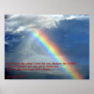 Jeremiah 29:11 Rainbow Poster