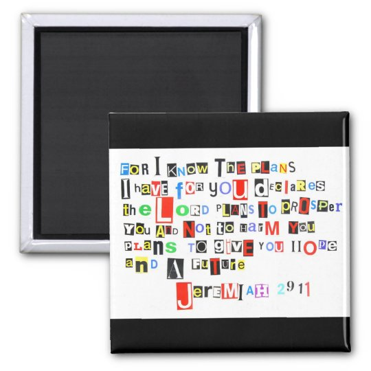 Jeremiah 29:11 Ransom Note Magnet