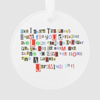 Jeremiah 29:11 Ransom Note Ornament