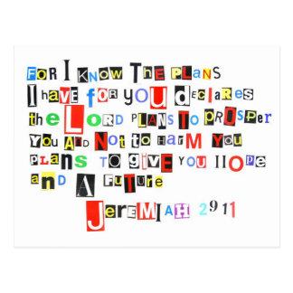Jeremiah 29:11 Ransom Note Postcard