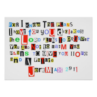 Jeremiah 29:11 Ransom Note Poster