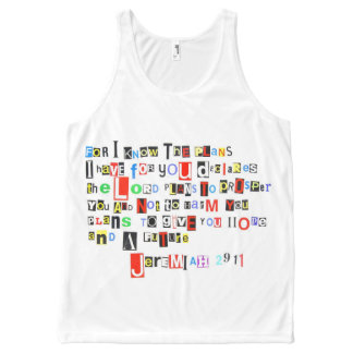 Jeremiah 29:11 Ransom Note Style All-Over Print Tank Top