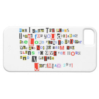 Jeremiah 29 11 Ransom Note Style iPhone 5 Cover