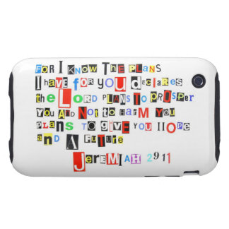 Jeremiah 29:11 Ransom Note Style iPhone 3 Tough Covers