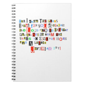 Jeremiah 29:11 Ransom Note Style Notebook