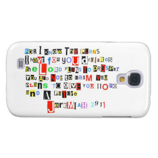 Jeremiah 29:11 Ransom Note Style Samsung S4 Case