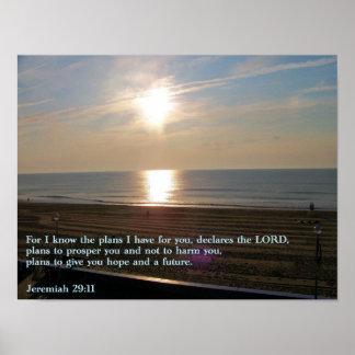 Jeremiah 29:11 Sunrise Poster
