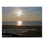 Jeremiah 29:11 Sunrise Posters