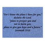 Jeremiah 29-11 tarjeta postal