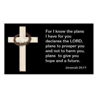 Jeremiah 29: 11 tarjetas de visita de la escritura
