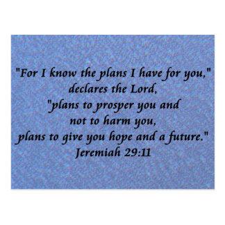 Jeremiah 29-11 tarjetas postales