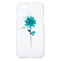 Jeremiah 29:11 Teal Daisy iPhone Case