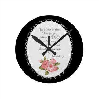 Jeremiah 29:11 Victorian Christian Gift Round Clock