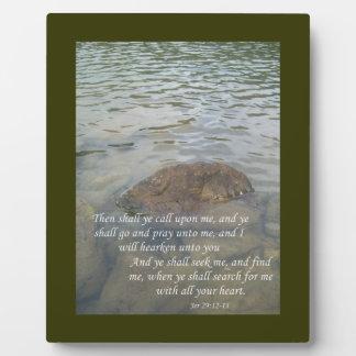 Jeremiah 29:12-13 plaque