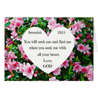 Jeremiah 29:13 card