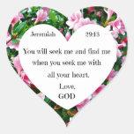 Jeremiah 29:13 heart sticker