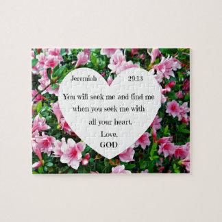 Jeremiah 29:13 jigsaw puzzle
