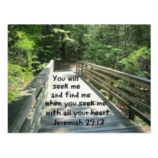 Jeremiah 29:13 postcard
