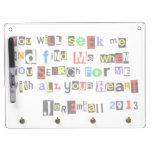 Jeremiah 29:13 Ransom Note Dry Erase Boards