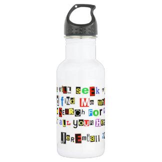 Jeremiah 29:13 Ransom Note Water Bottle