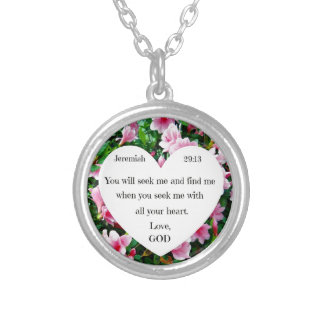 Jeremiah 29:13 silver plated necklace