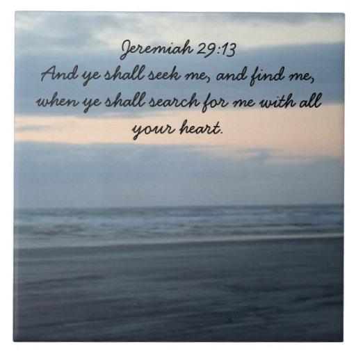 Jeremiah 29:13 Tile