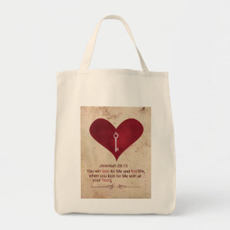 Jeremiah 29:13 Tote Bags