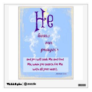 Jeremiah 29:13 wall sticker