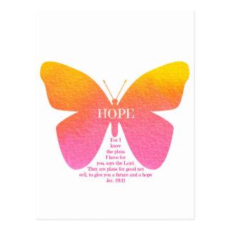 Jeremiah 29 Hope Butterfly Postcard