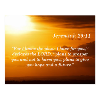 Jeremiah 29 tarjeta de memoria de la escritura de  tarjetas postales