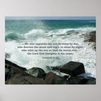 Jeremiah 31:35 POSTER Print